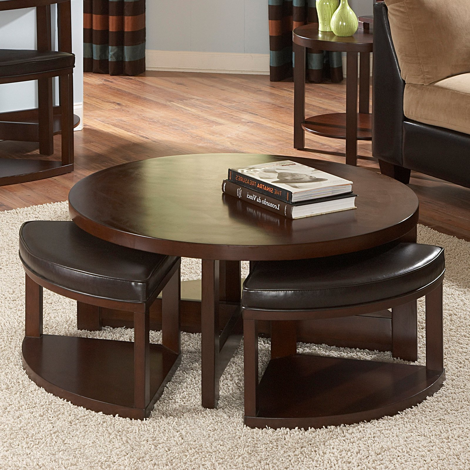 round coffee table with seats 18