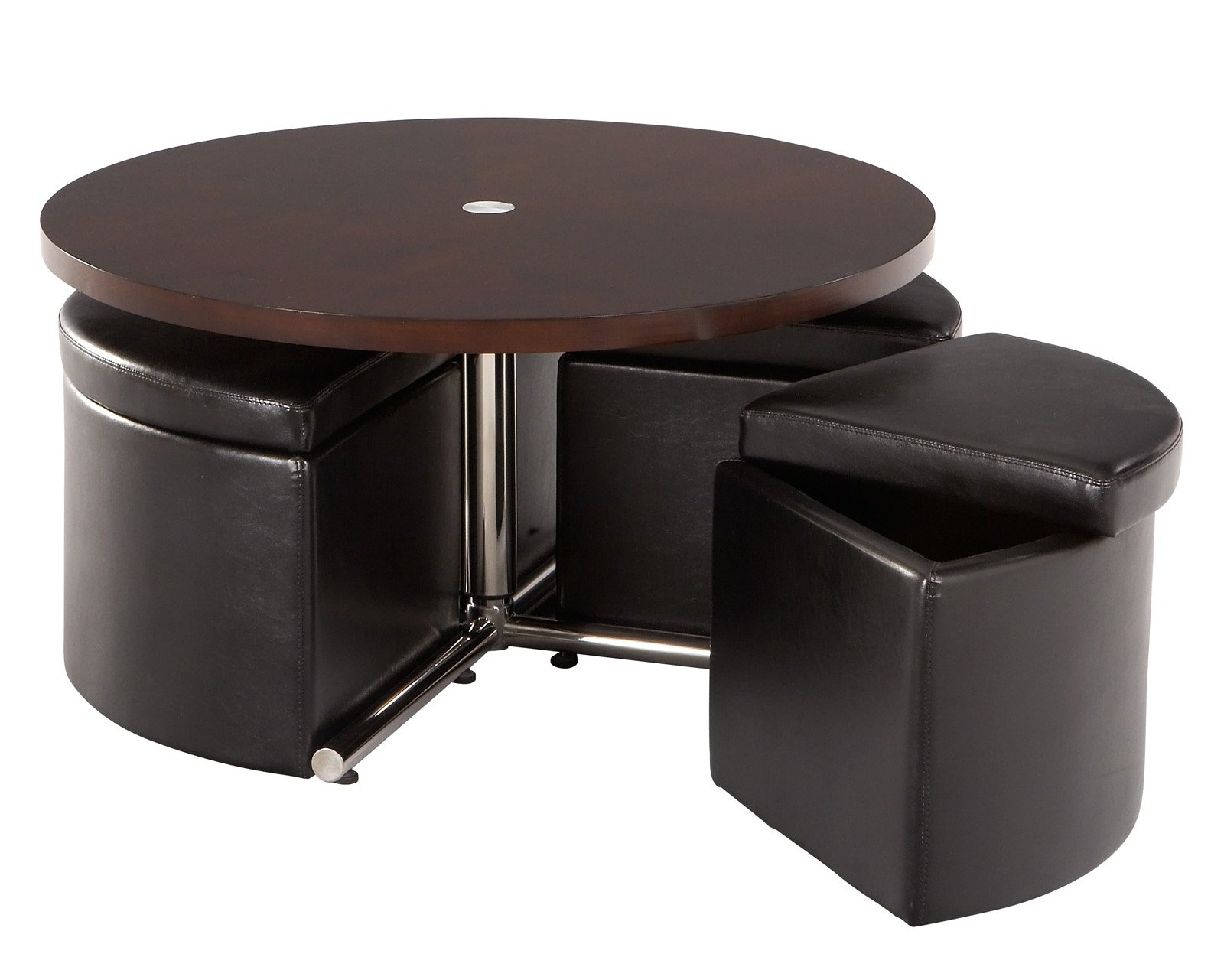 Round coffee table with seats underneath roy home design for Table with coffee