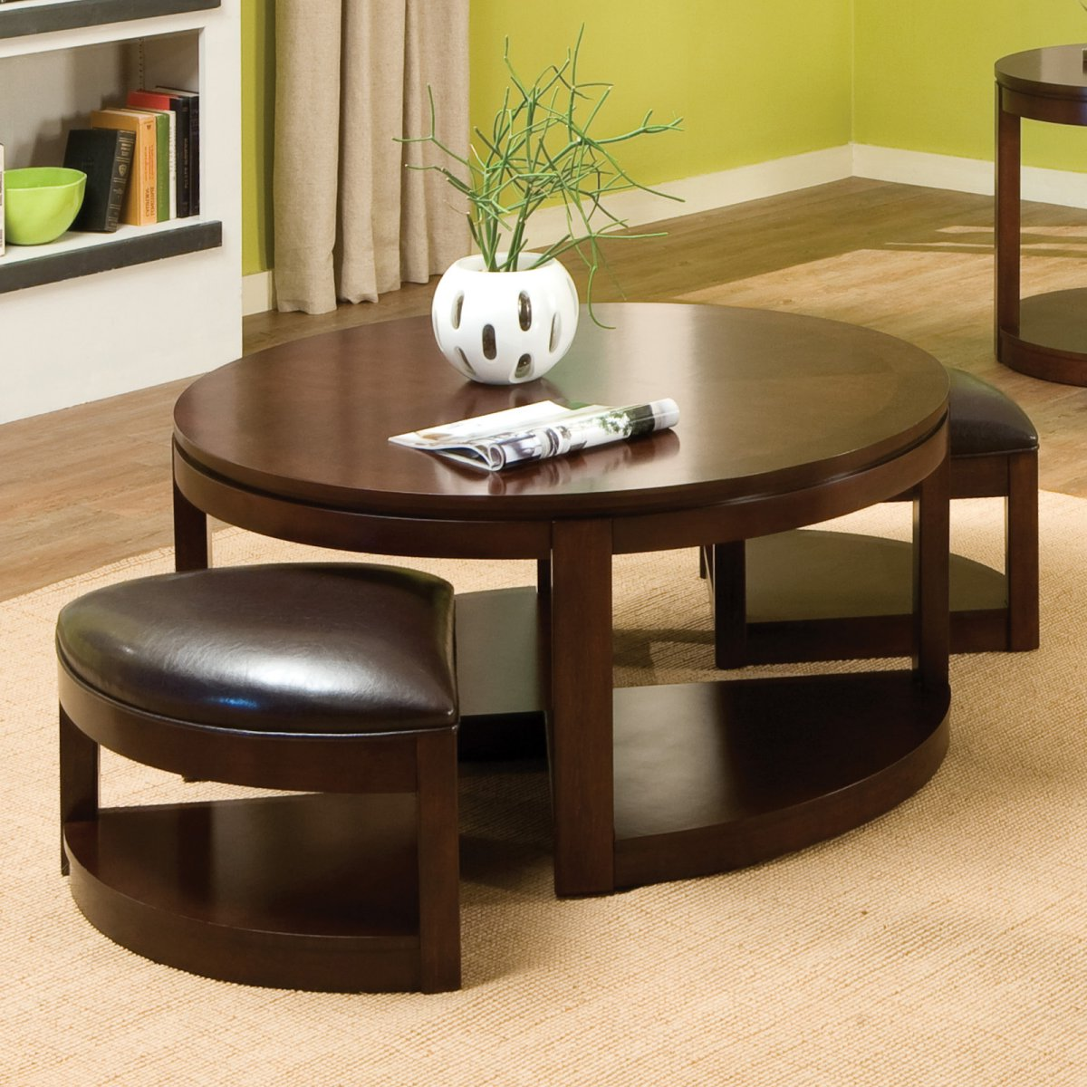 round coffee table with seats 24