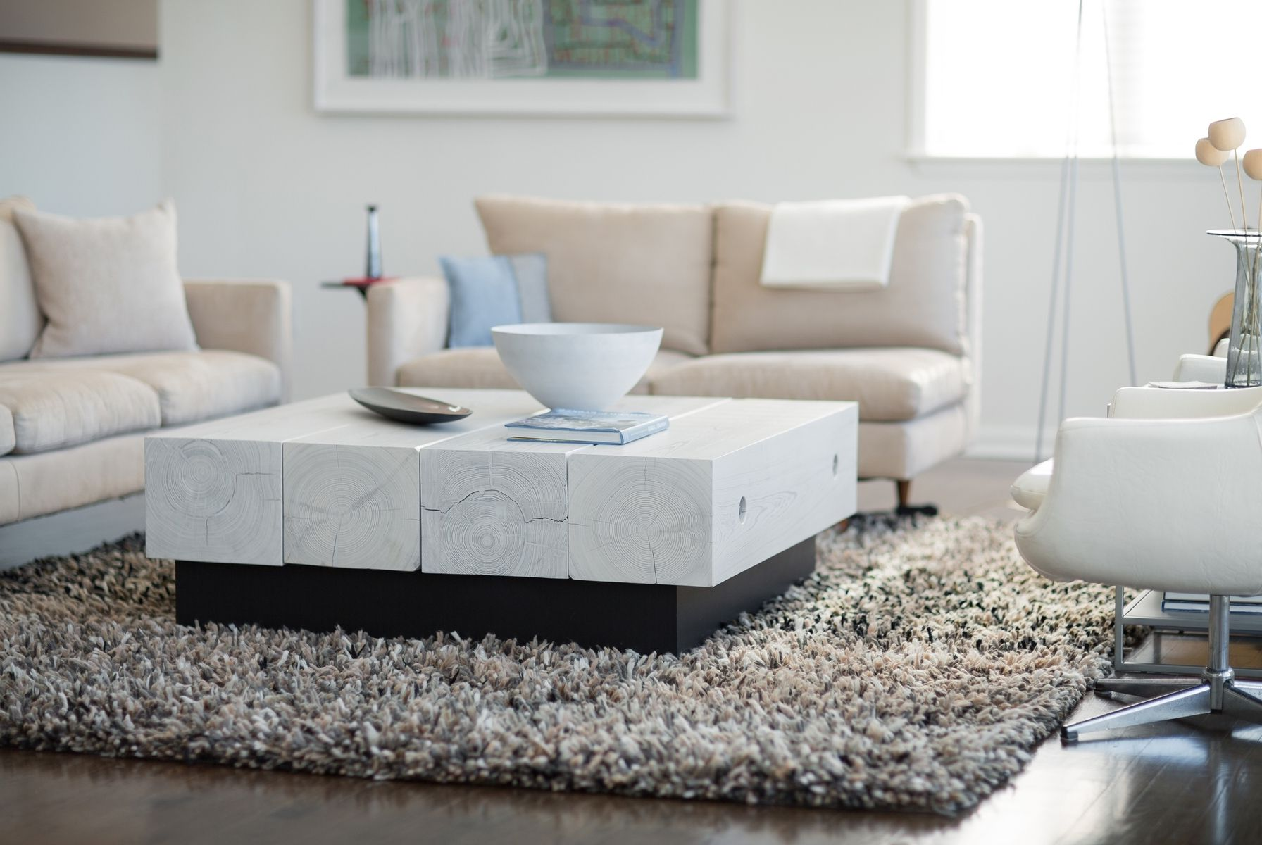 White Washed Wood Coffee Table Furniture | Roy Home Design - photo#38