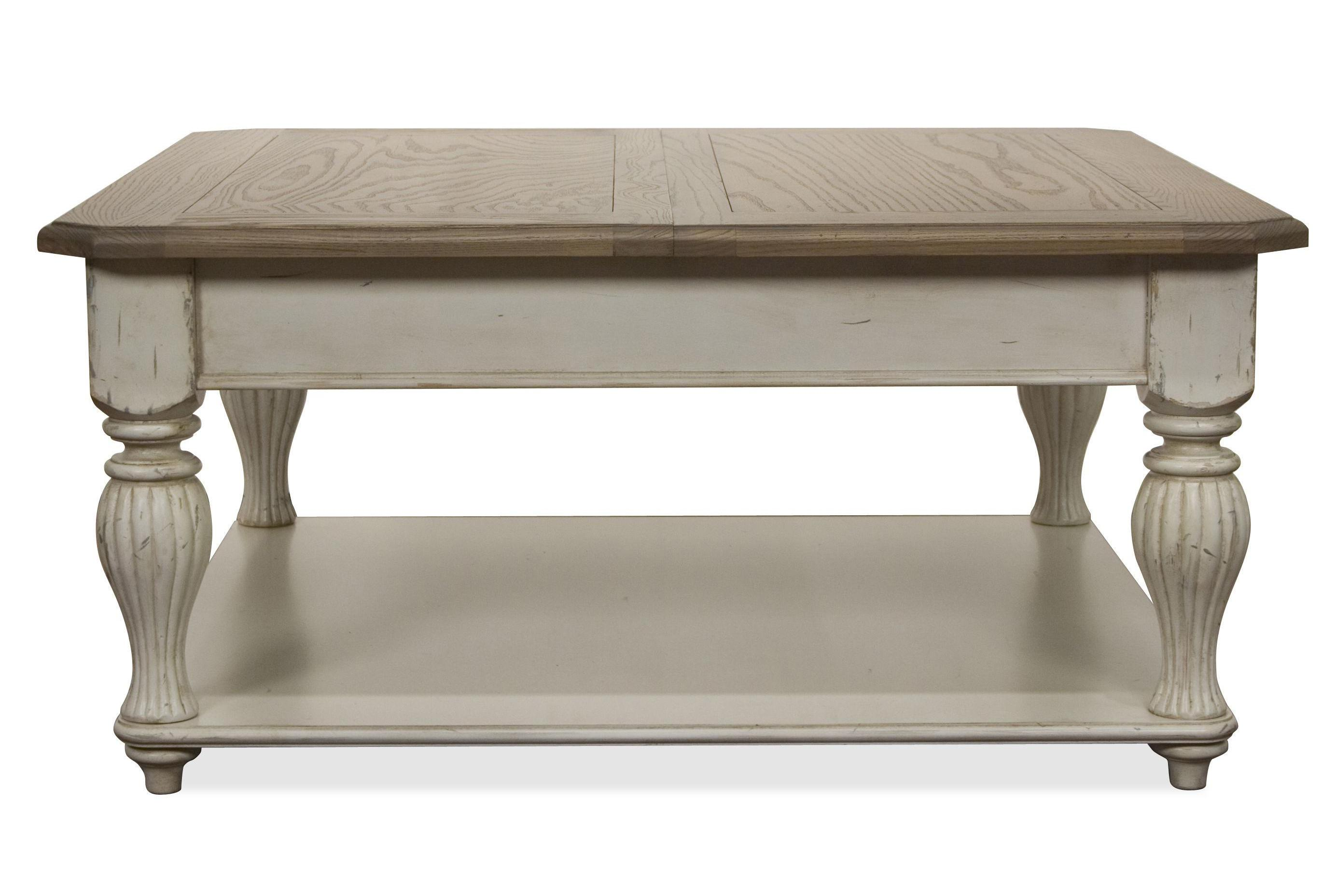 white washed wood coffee table 12