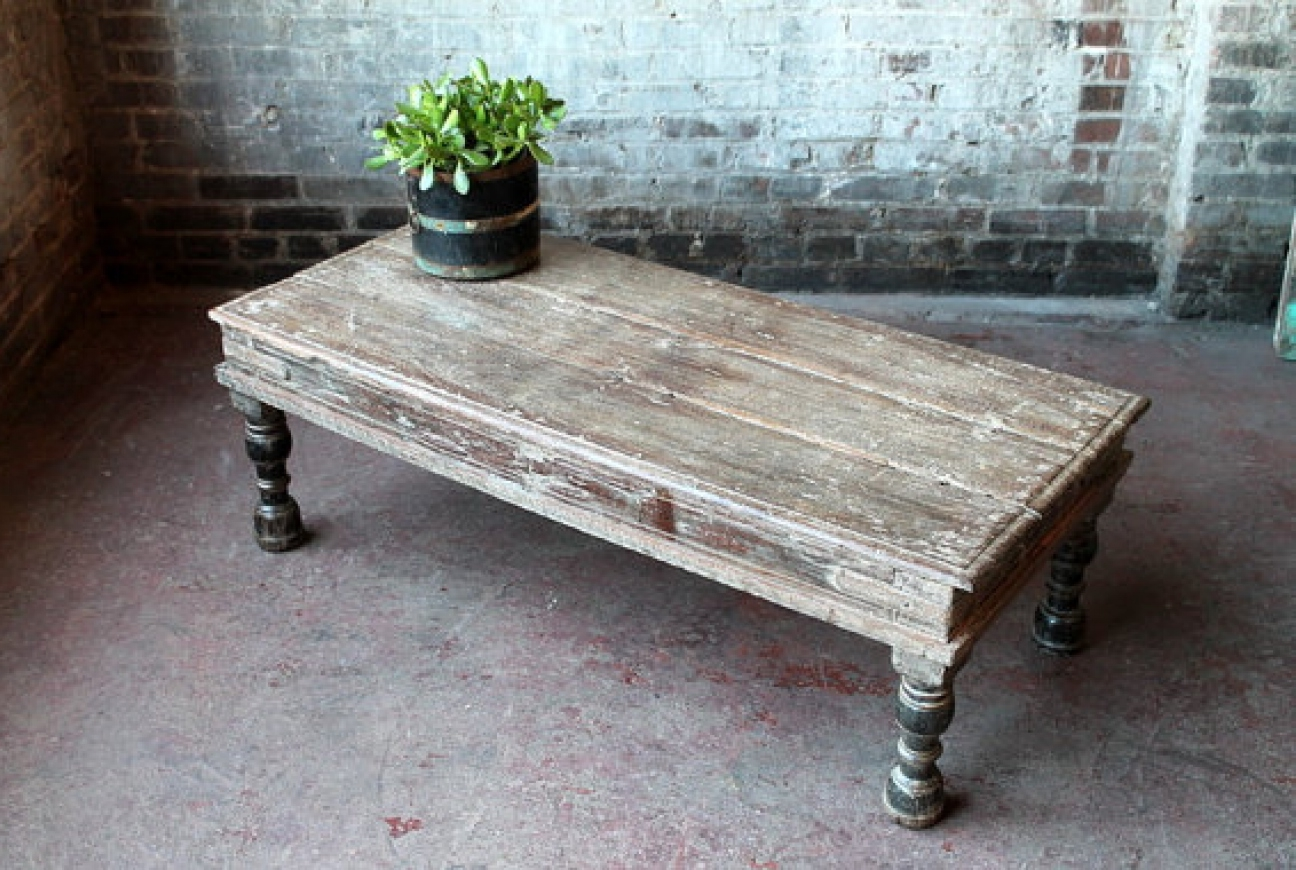 white washed wood coffee table 14