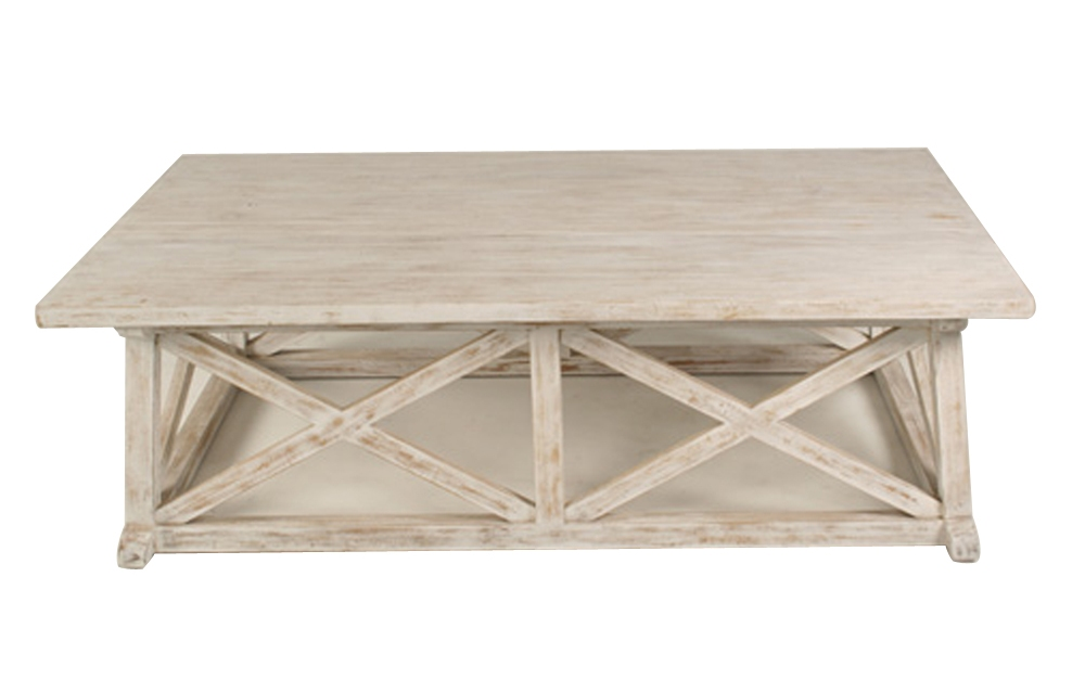 white washed wood coffee table 18