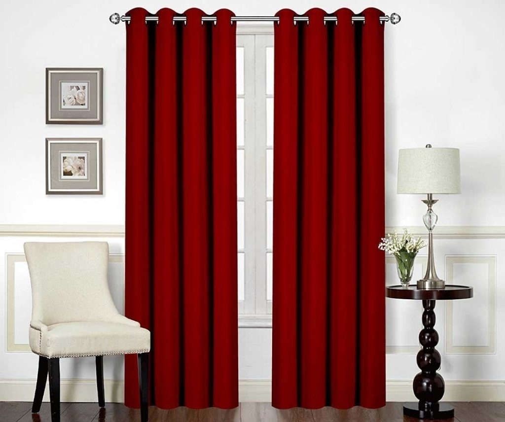 burgundy curtains for living room 11