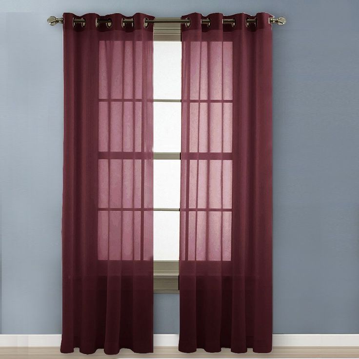 burgundy curtains for living room 13