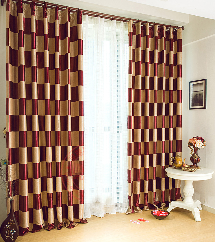 burgundy curtains for living room 15