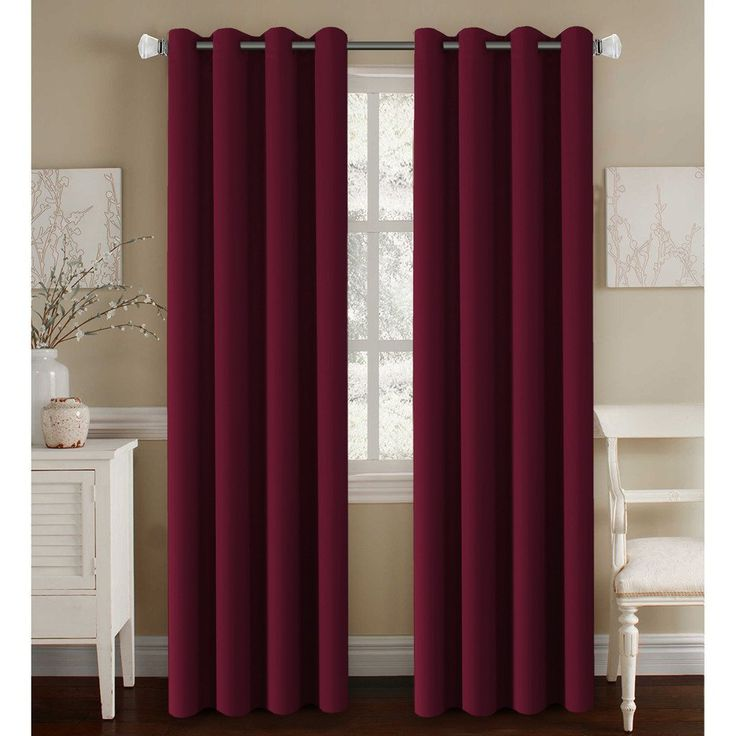 Home Design Ideas Curtains: Burgundy Curtains For Living Room