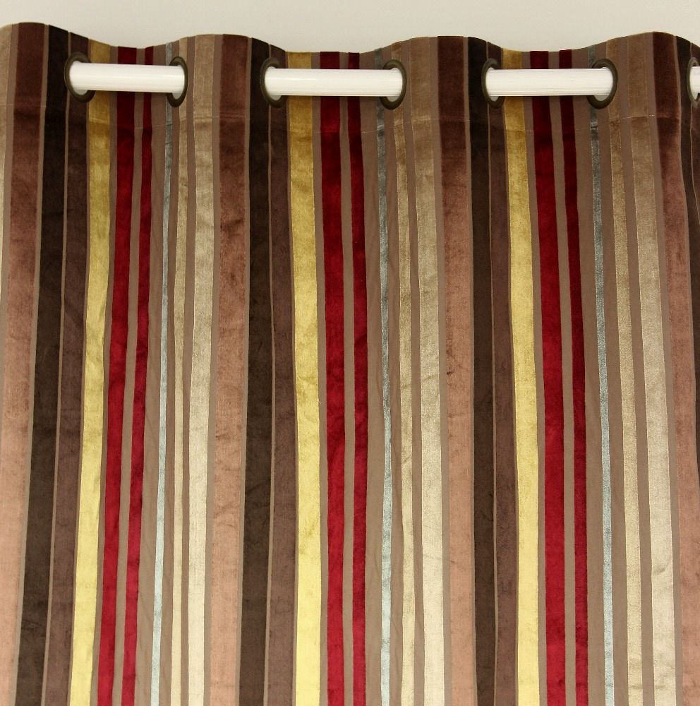 Burgundy curtains for living room