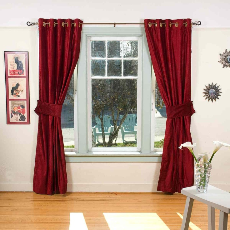 burgundy curtains for living room 19