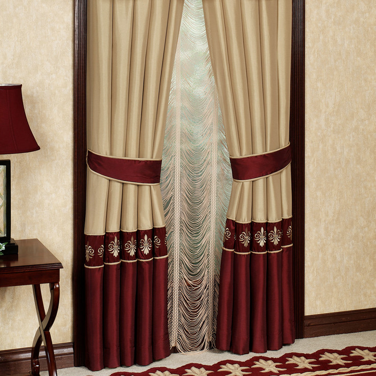 burgundy curtains for living room 21