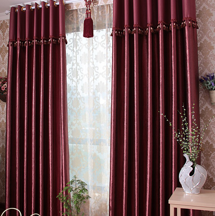 burgundy curtains for living room 24
