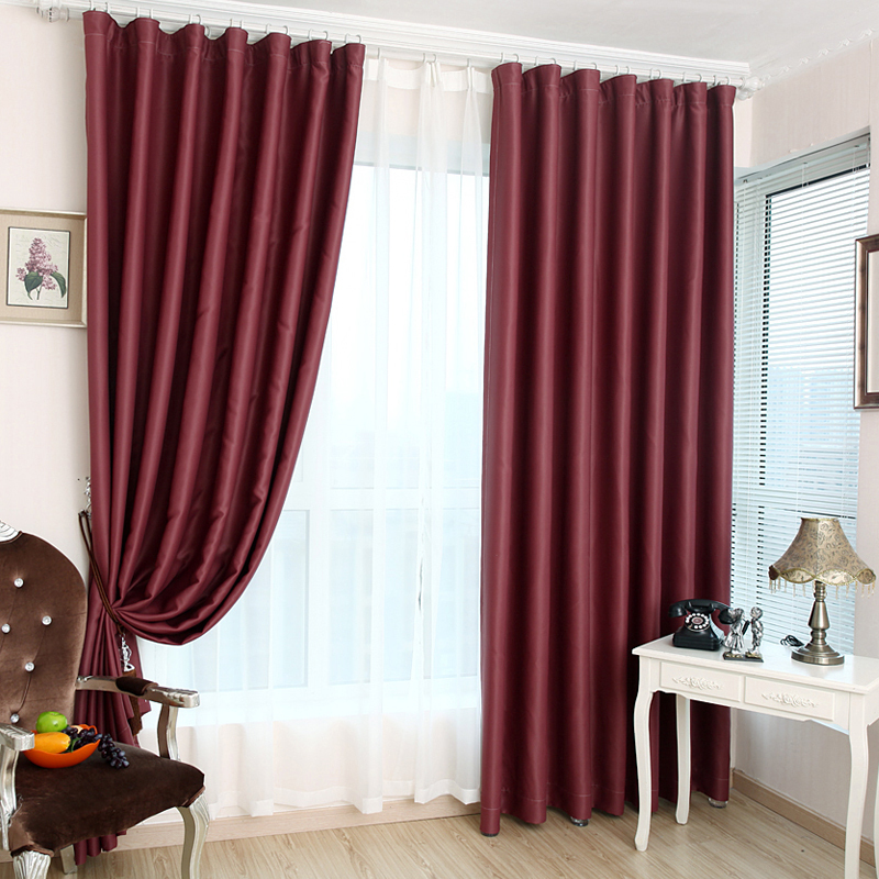 burgundy curtains for living room 28