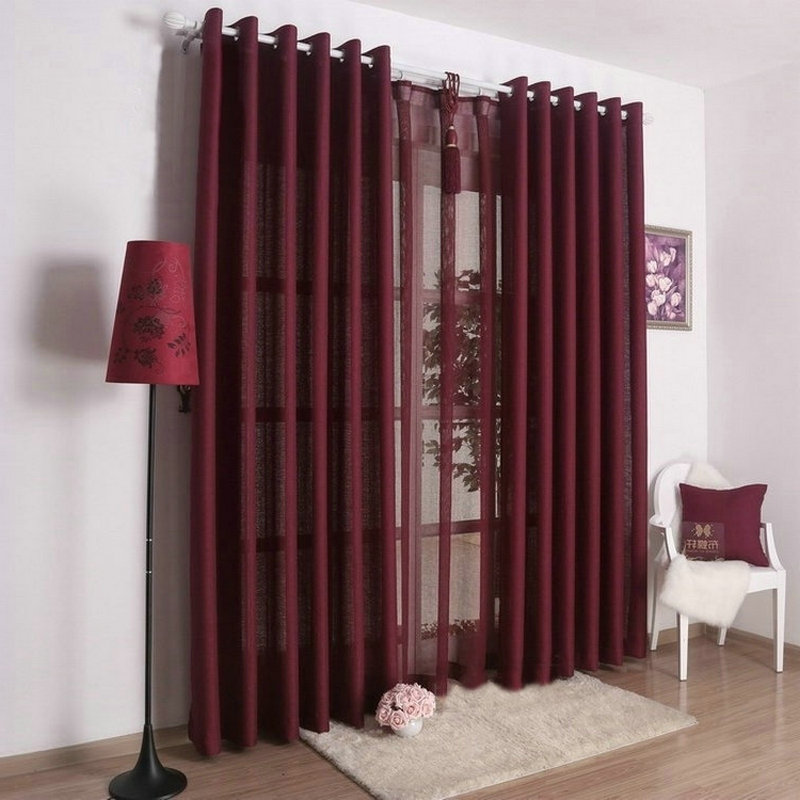 burgundy curtains for living room 29