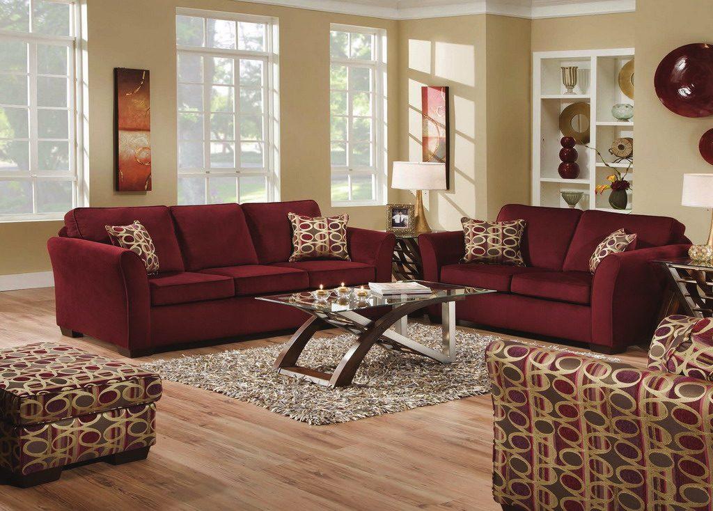 Burgundy Living Room Color Schemes 16