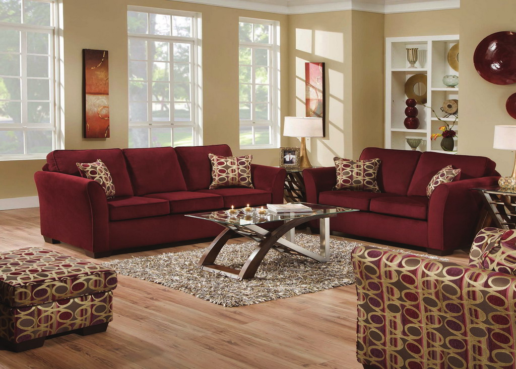 burgundy living room color schemes 16