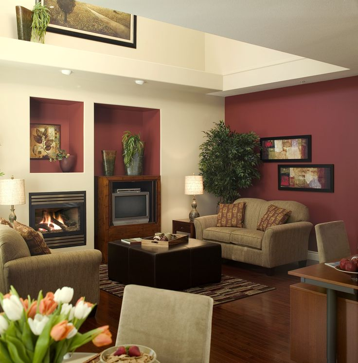 Burgundy color scheme living room living room for Living room schemes