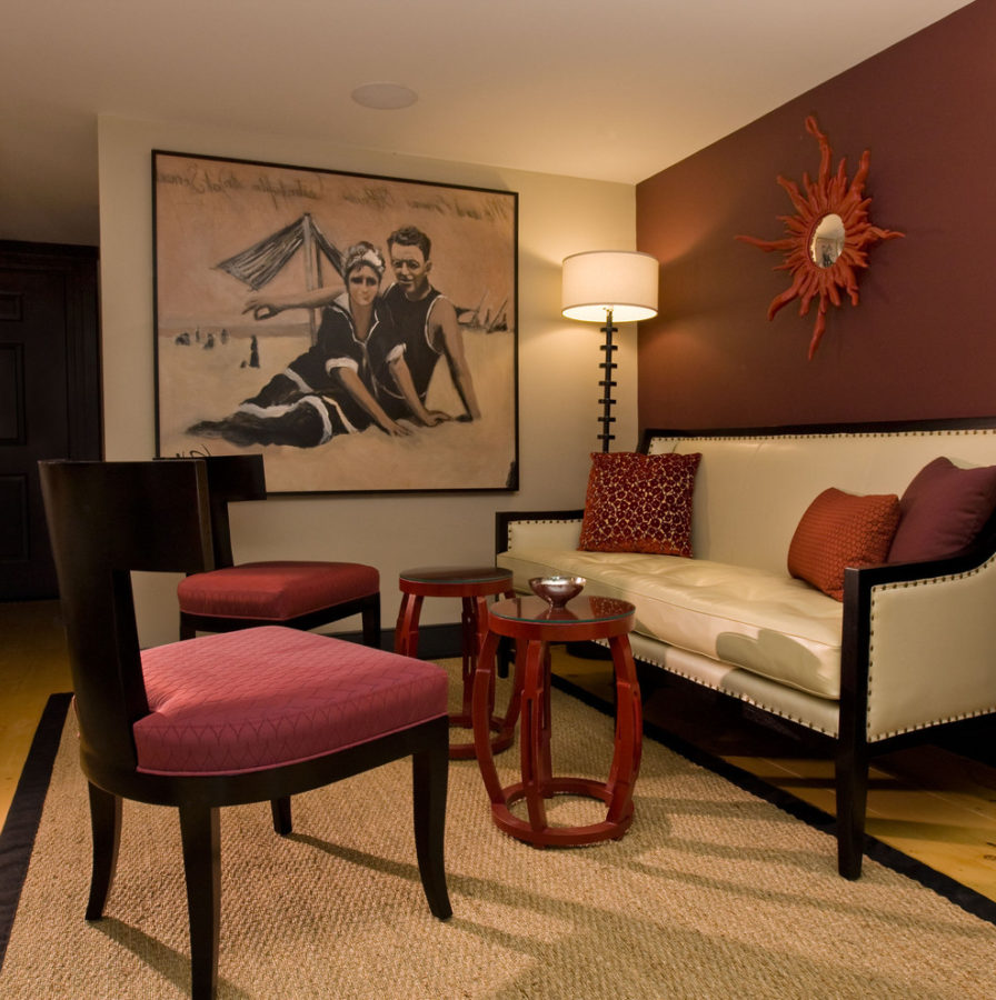Burgundy Living Room Color Schemes 19