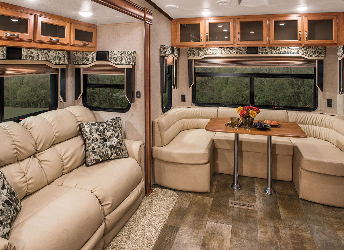 fifth wheel campers with front living rooms 15