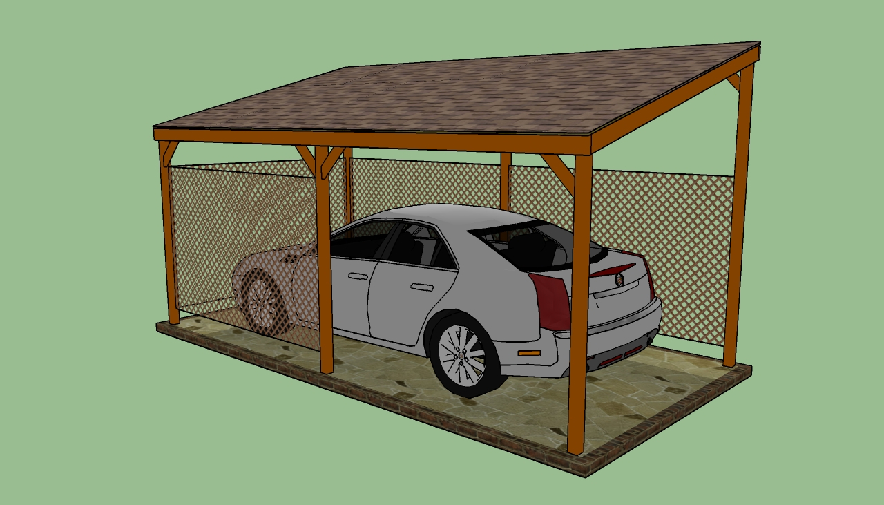 Building a Carport-How-to-build-a-lean-to-carport