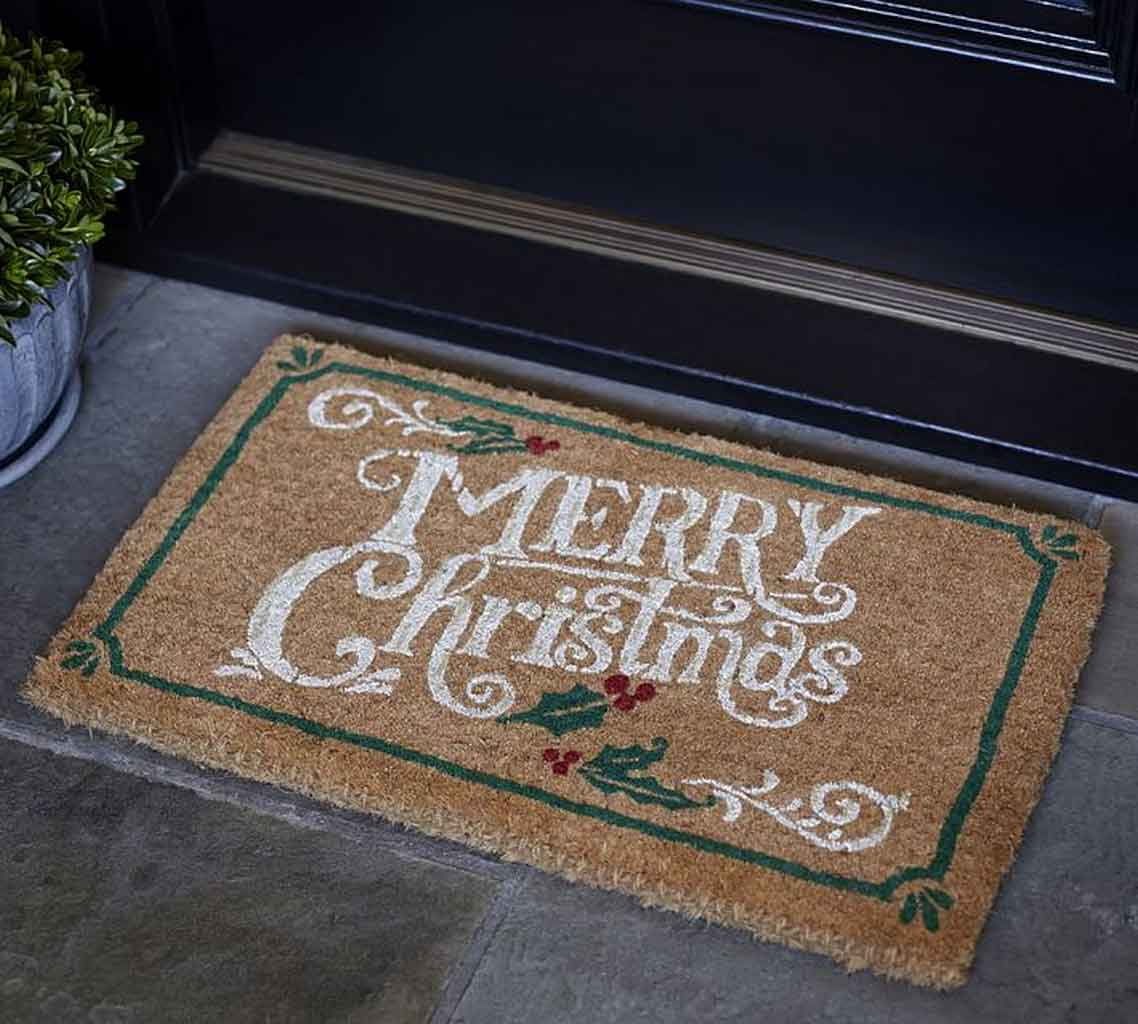 How To DIY Personalized Coir Christmas Door Mats And Show Your Joy! | Roy Home Design