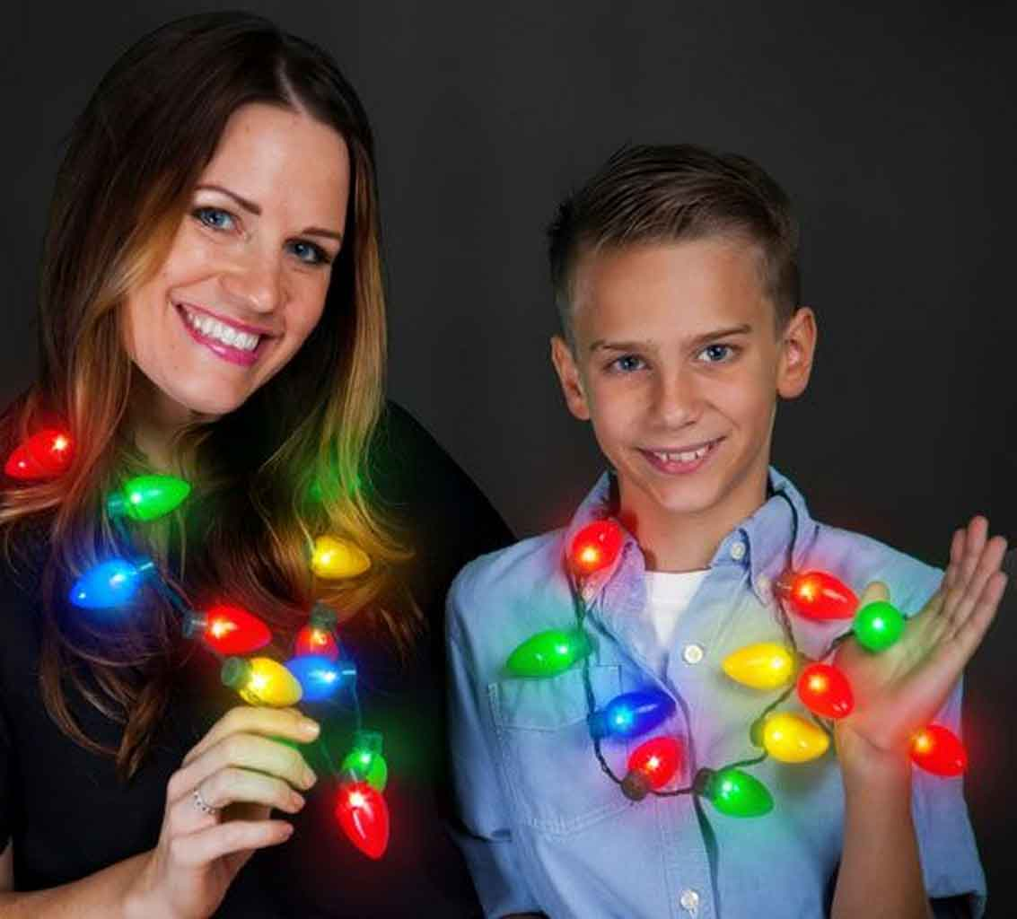 Christmas Light Bulb Necklace- An Accessories To Glow Up Your Christmas | Roy Home Design