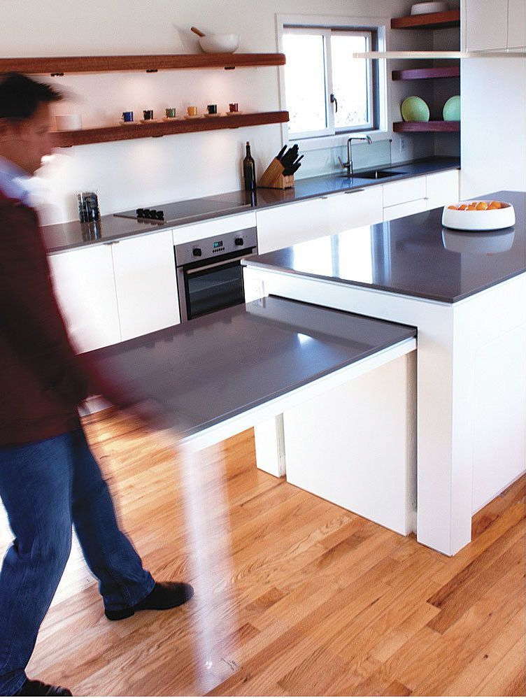5 Kitchen Island With Pull Out Table Ideas To Overcome Small Kitchen Space | Roy Home Design