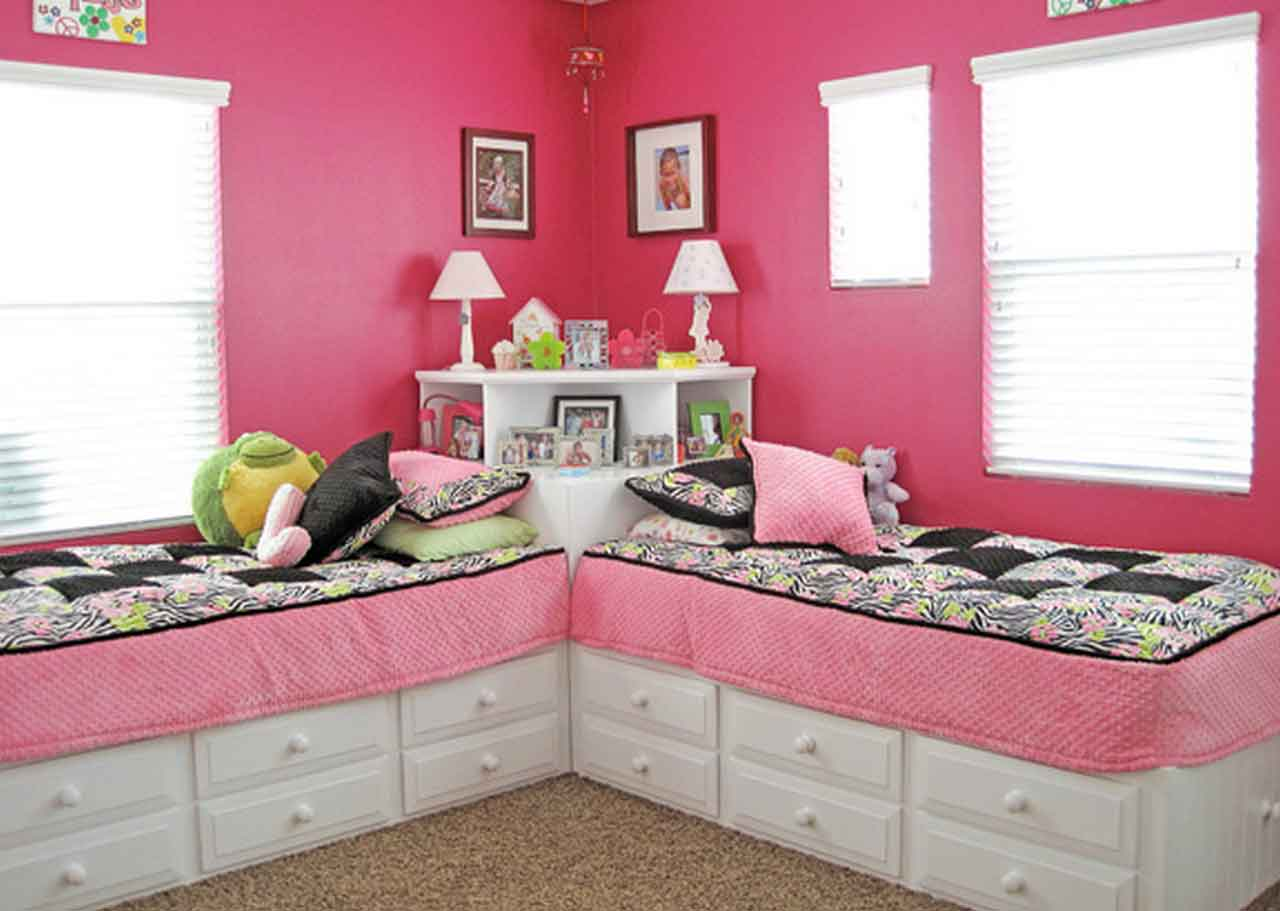 5 Beauty And Functional Girls Twin Bed With Storage Design Inspirations | Roy Home Design