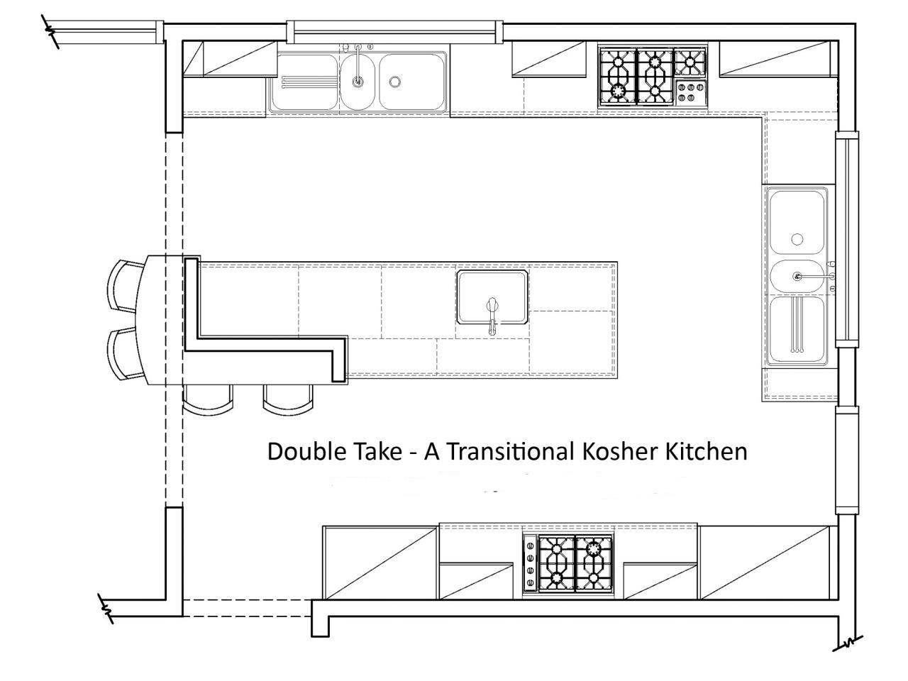 Awesome Ideas For Kitchen Remodeling Floor Plans