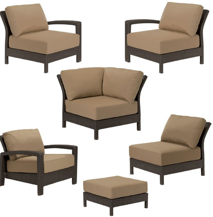 Deep Seating Replacement Cushions For Outdoor Furniture Set Wicker Newport