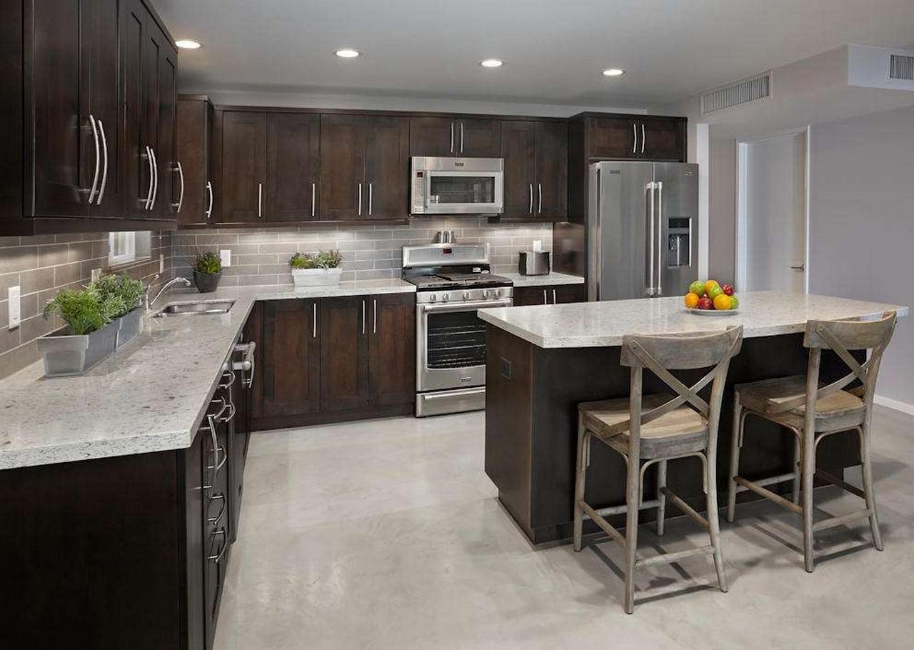 Espresso-Kitchen-Cabinets-Urban-Kitchen-espresso color kitchen cabinets
