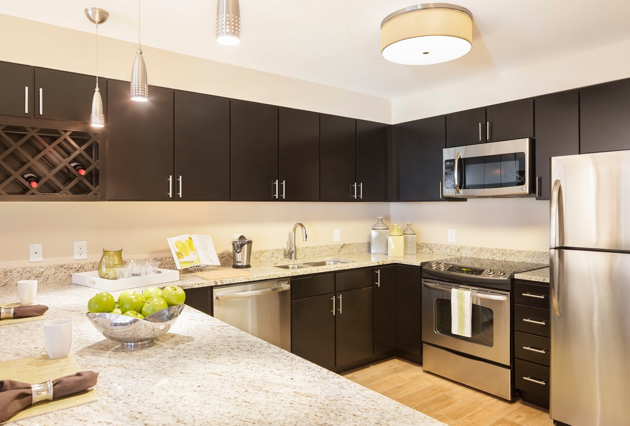 Espresso Kitchen Cagraphite-espresso-kitchen-cabinets-with-white-island-on-light-brown-floor-high-durability-espresso-kitchen-cabinets-with-white-island-come-elegance