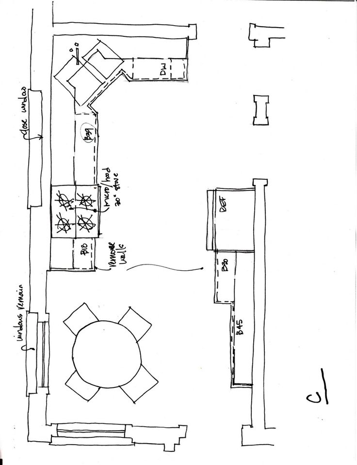 Ideas For Kitchen Remodeling Floor Plans Long Layouts
