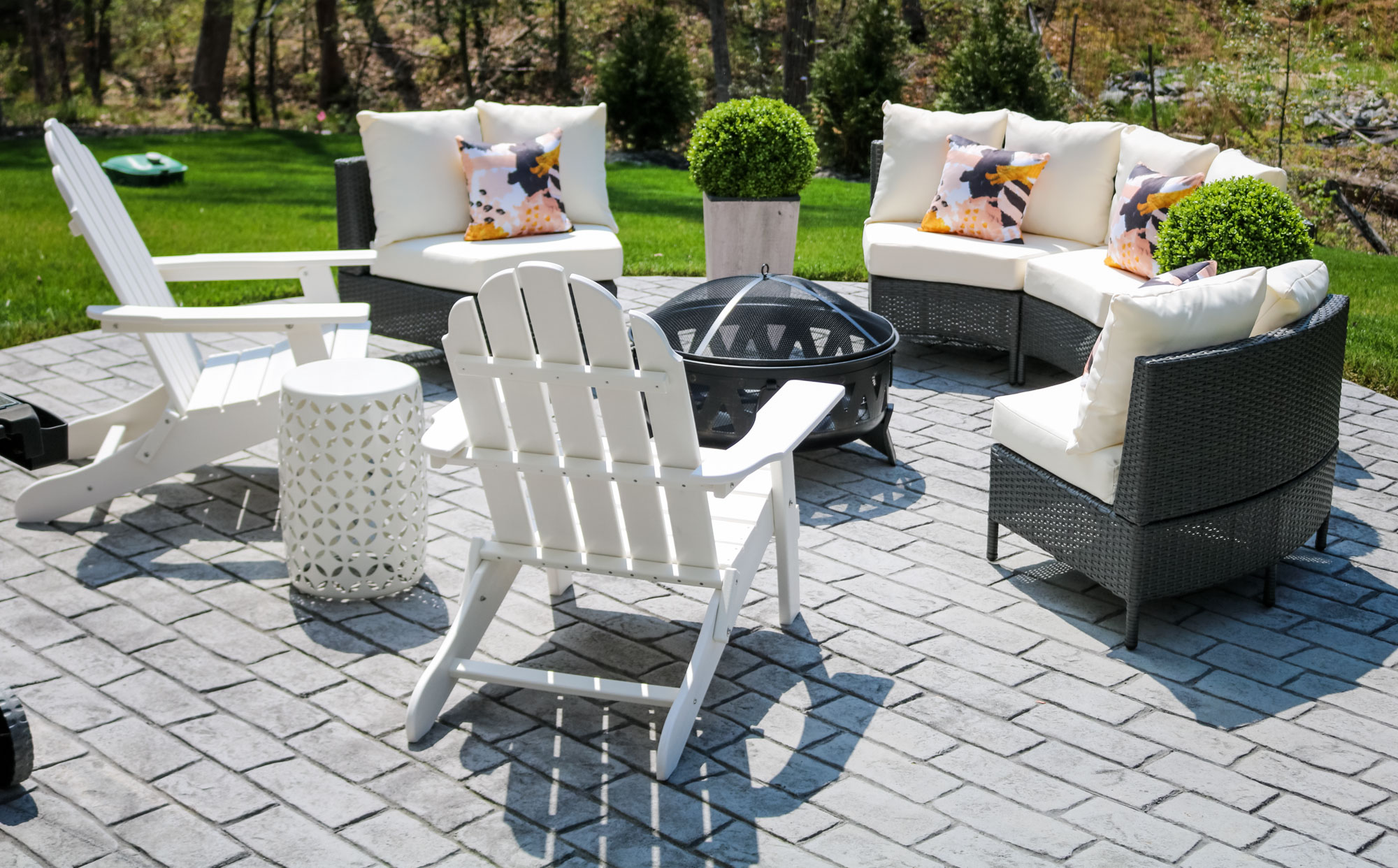 using outdoor furniture indoors