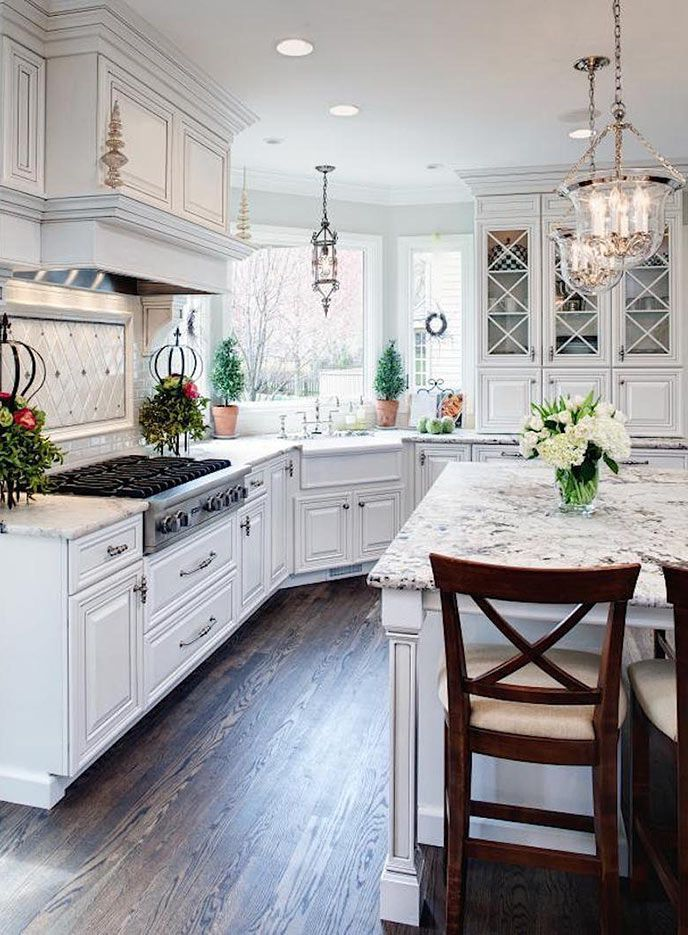Kitchen Remodels With White Cabinets Design with Stainless Appliances
