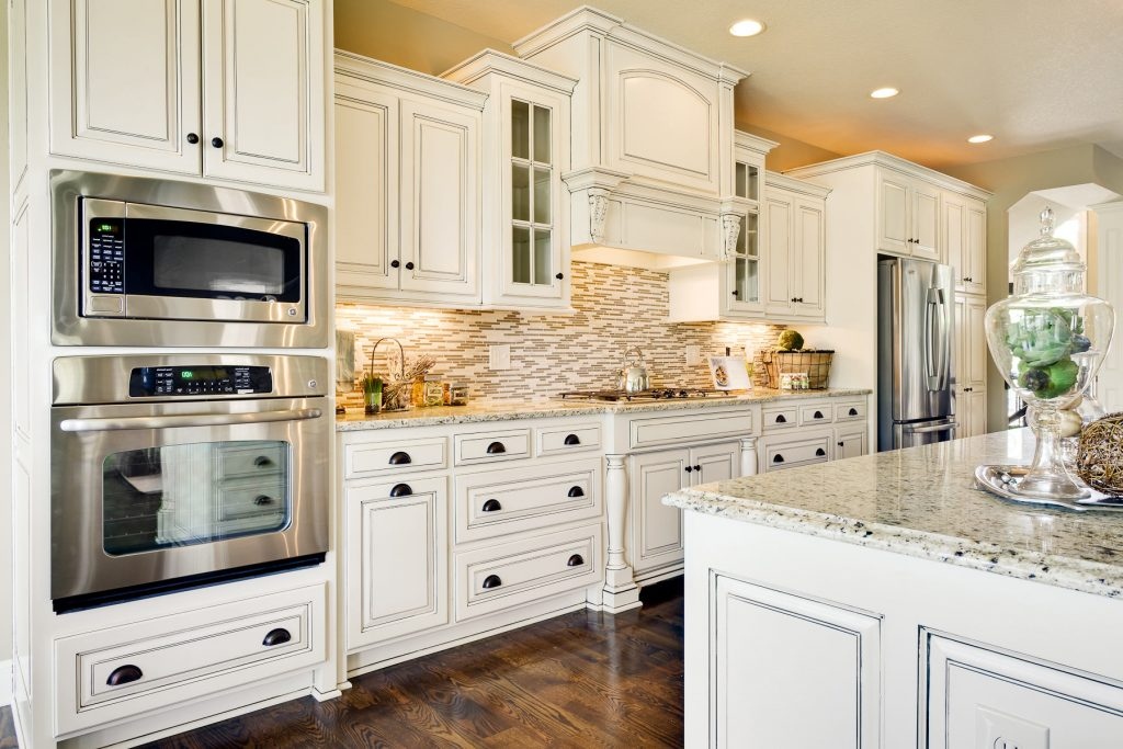 Kitchen Remodels With White Cabinets Oak Cabinets Black Appliances