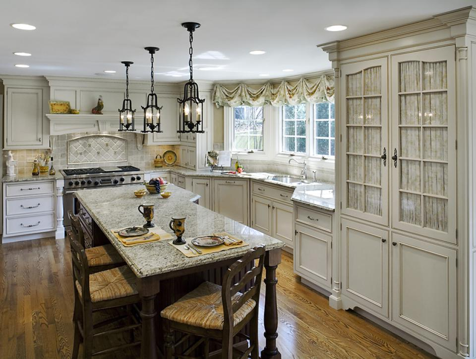 Kitchen Remodels With White Cabinets Wood Floor