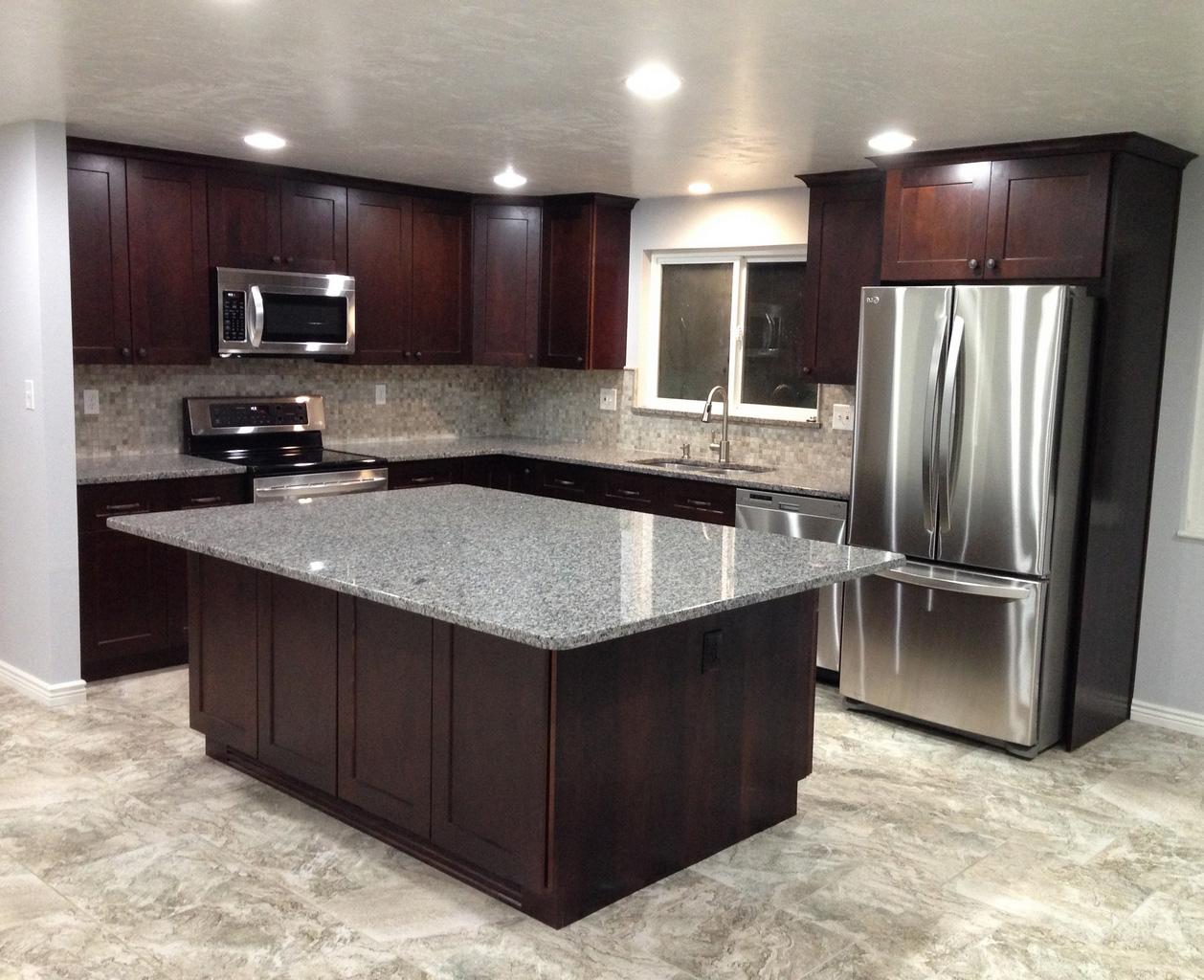 Kitchen-Shaker-Style-Espresso-Kitchen-Cabinets-espresso shaker cabinets