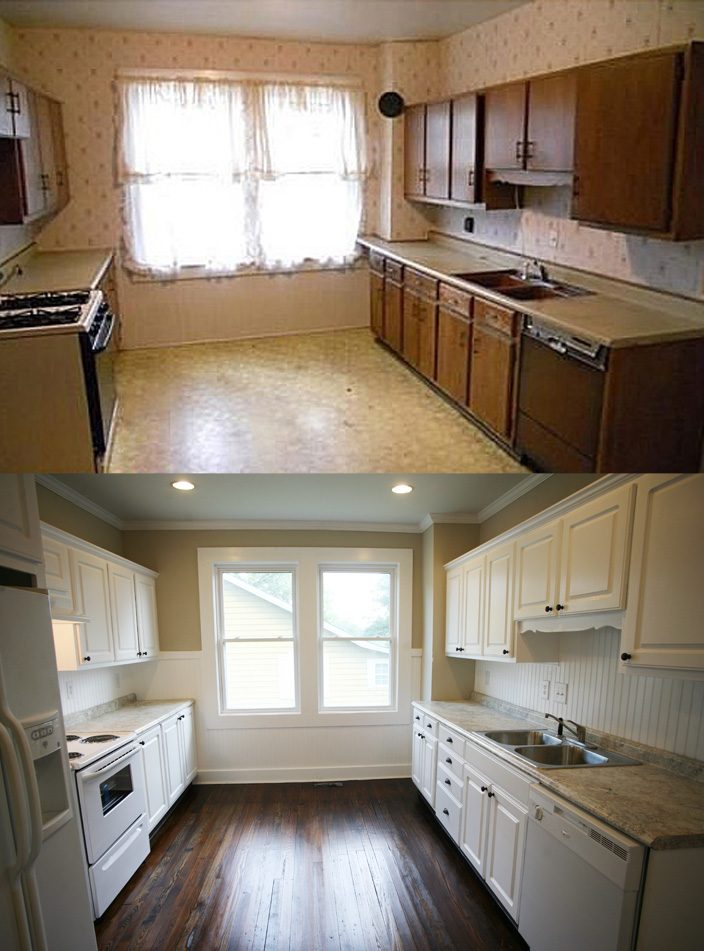 Older Home Kitchen Remodeling Ideas with Wood Floor