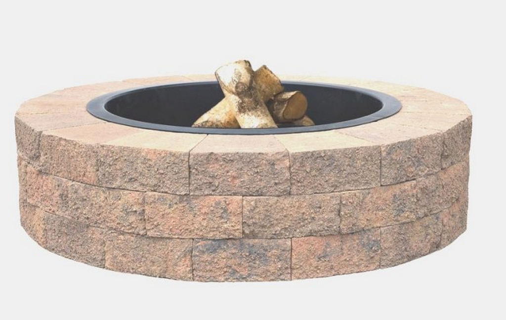 backyard fire pit ideas-tan-oldcastle-fire-pit-kits-build your own fire pit