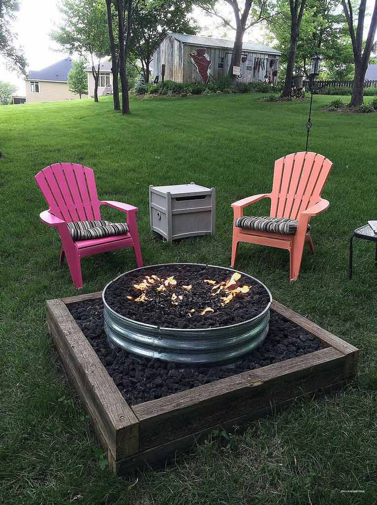 modern-ideas-Corrugated-Steel-Fire-Pit-Ring-outdoor fire pit ideas-backyard fire pit ideas