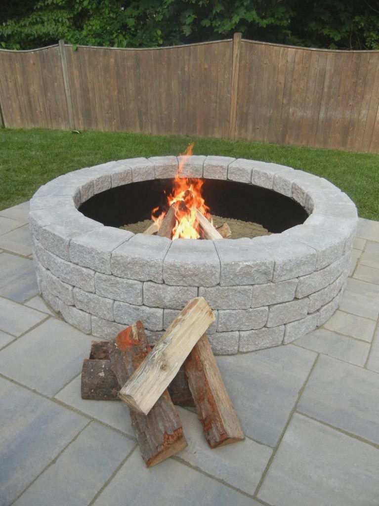 outdoor wood burning fire pit-fire-pit-kit-home-depot-paver-stone-fire-pit-burner-ring-home-depot