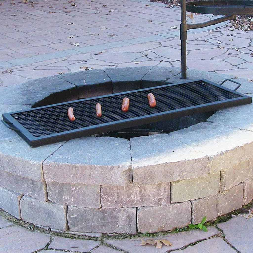patio set with fire pit-nice-ideas-Fire-Pit-Cooking-Grates-Large-small-sausage