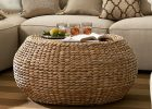 round seagrass coffee table appealing round rattan ottoman coffee table in coffee table remarkable round wicker coffee table glass indoor