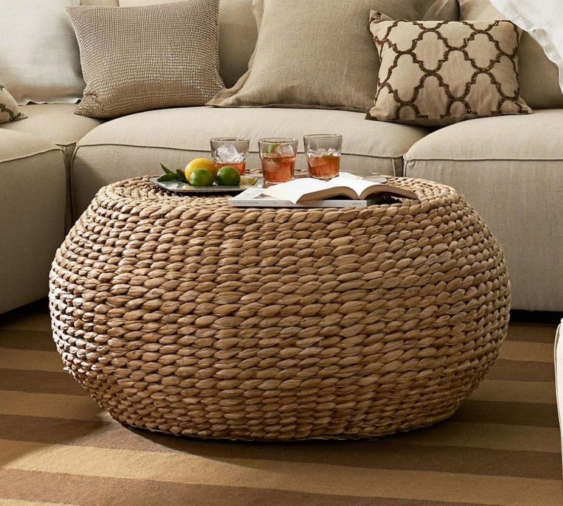 round seagrass coffee table-appealing-round-rattan-ottoman-coffee-table-in-coffee-table-remarkable-round-wicker-coffee-table-glass-indoor