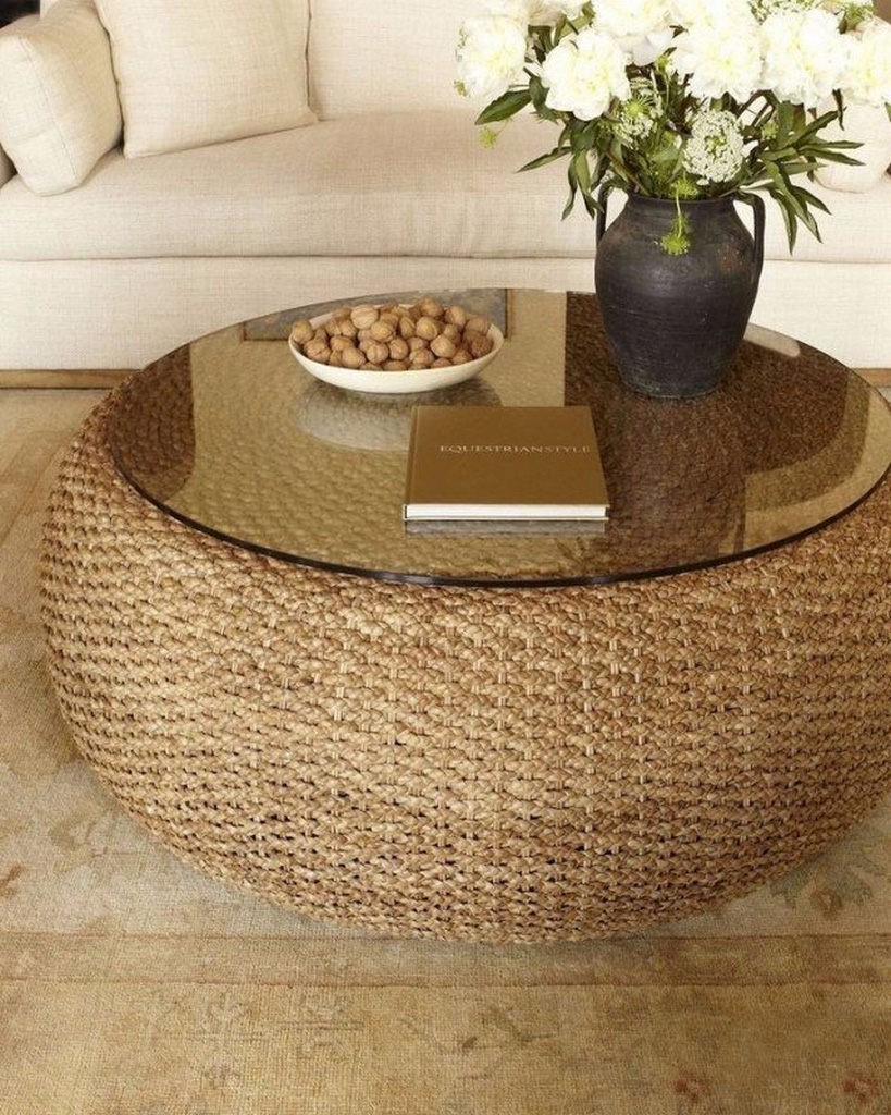 round seagrass coffee table-seagrass-coffee-table