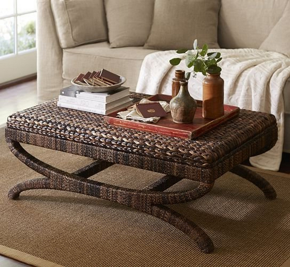 seagrass coffee table ottoman-seagrass-side-table-ottoman