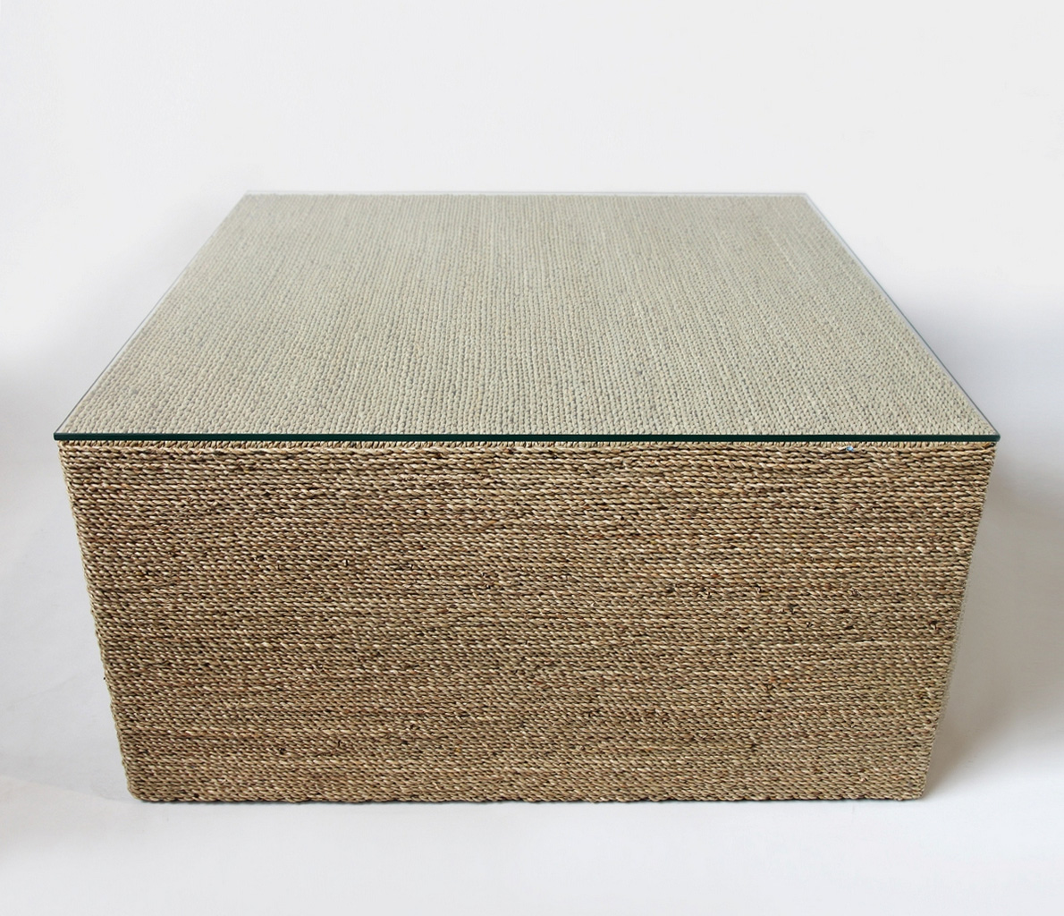 seagrass ottoman square-square-seagrass-rope-coffee-table-19147