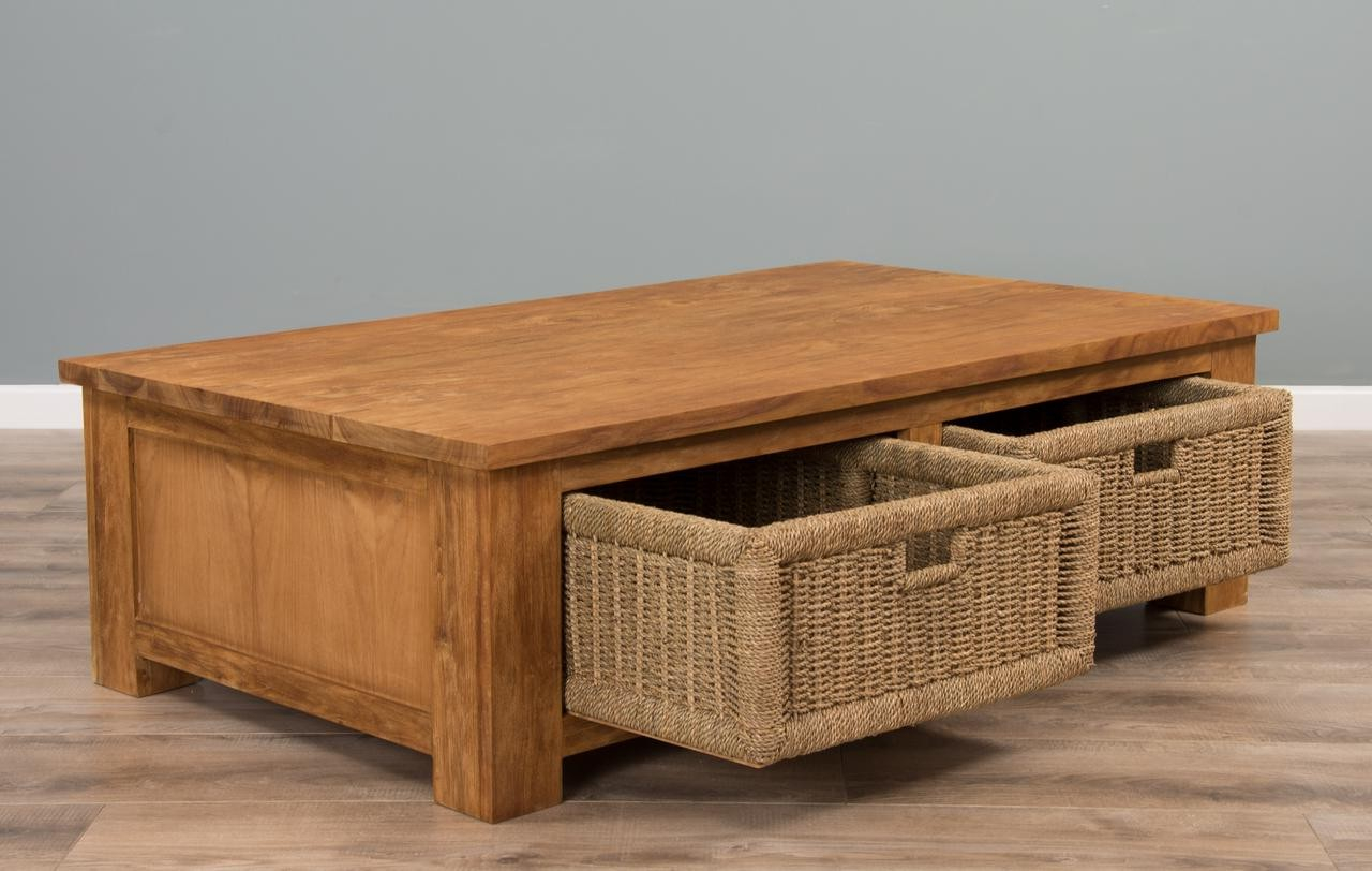 Seagrass Storage  Ottoman Reclaimed_teak_coffee_table_with_seagrass_drawers_open_ | Roy Home  Design