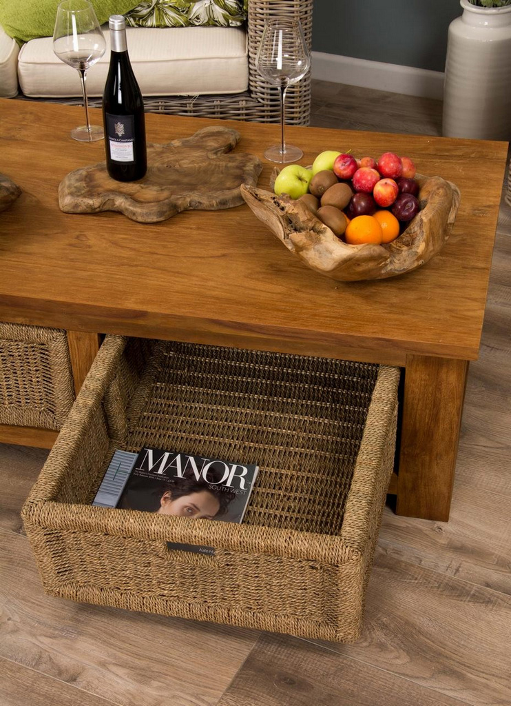 seagrass storage ottoman-reclaimed_teak_coffee_table_with_seagrass_drawers_open_drawer_detail_