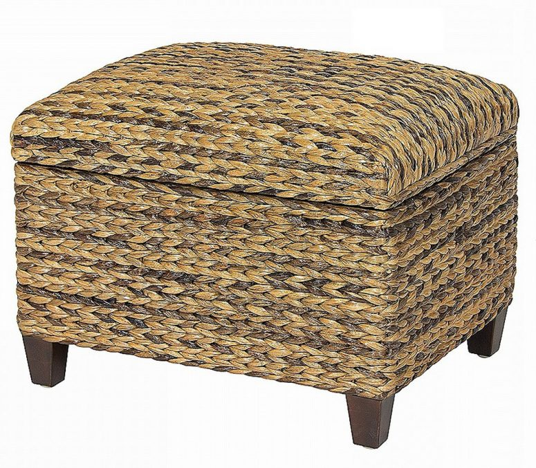 Seagrass Storage Ottomanseagrass Ottomanseagrasstrunkcoffee - Woven trunk coffee table